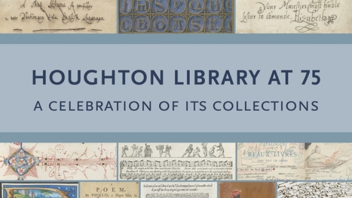 The cover of Houghton Library at 75