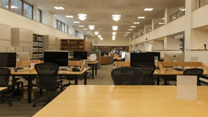 The Media Lab in Lamont Library