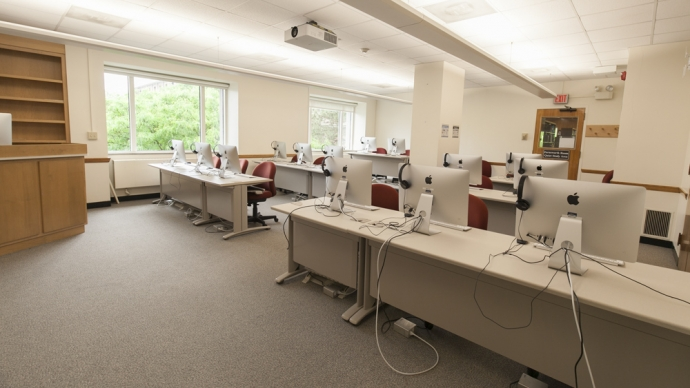 The Media Lab Annex in Lamont Library