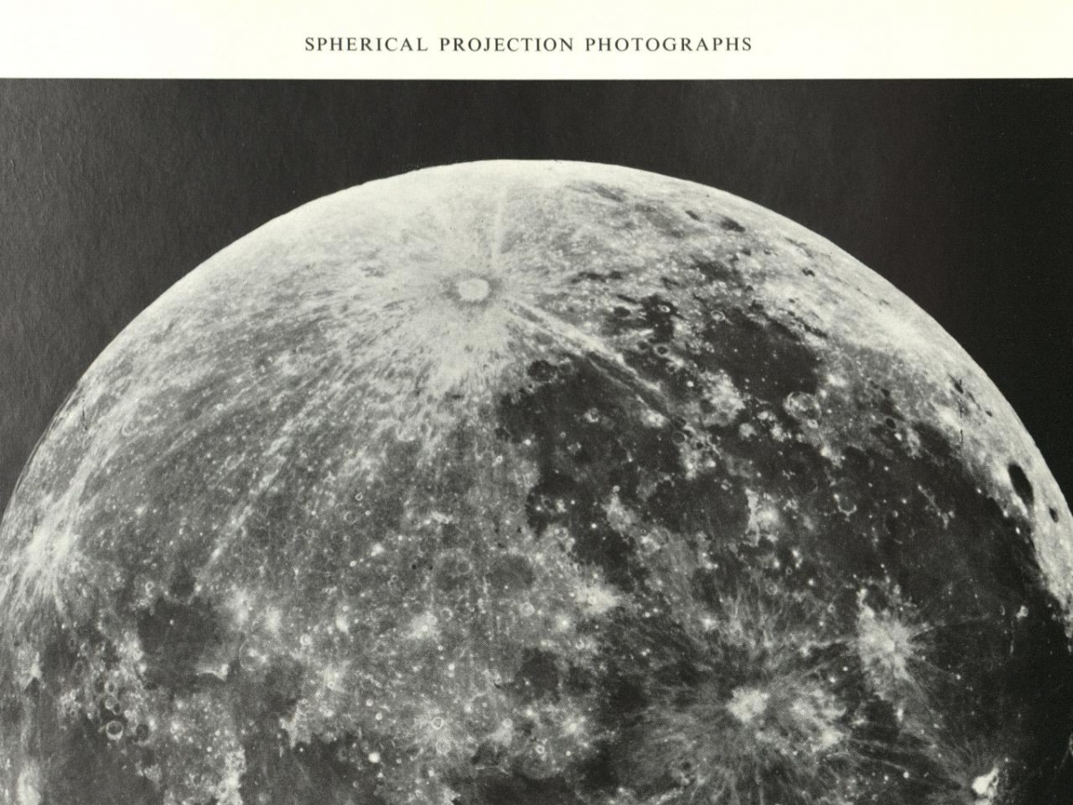 black and white photograph of the moon