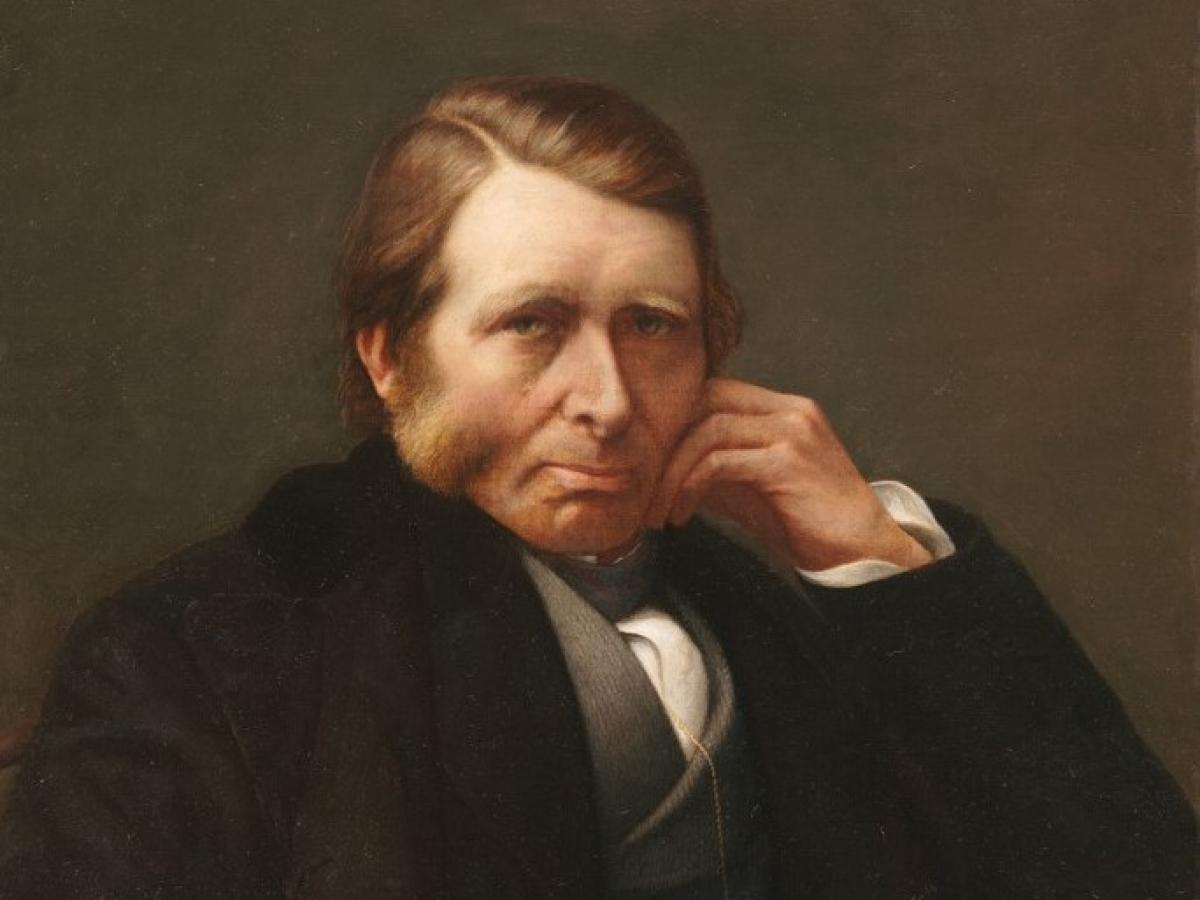 Charles Herbert Moore, Portrait of John Ruskin, 1876-1877