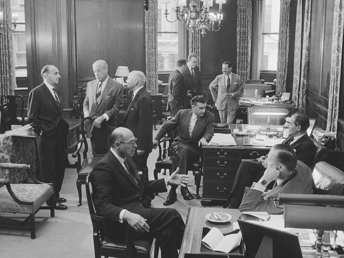 "Lehman Brothers ""partners' room,"" 1957"