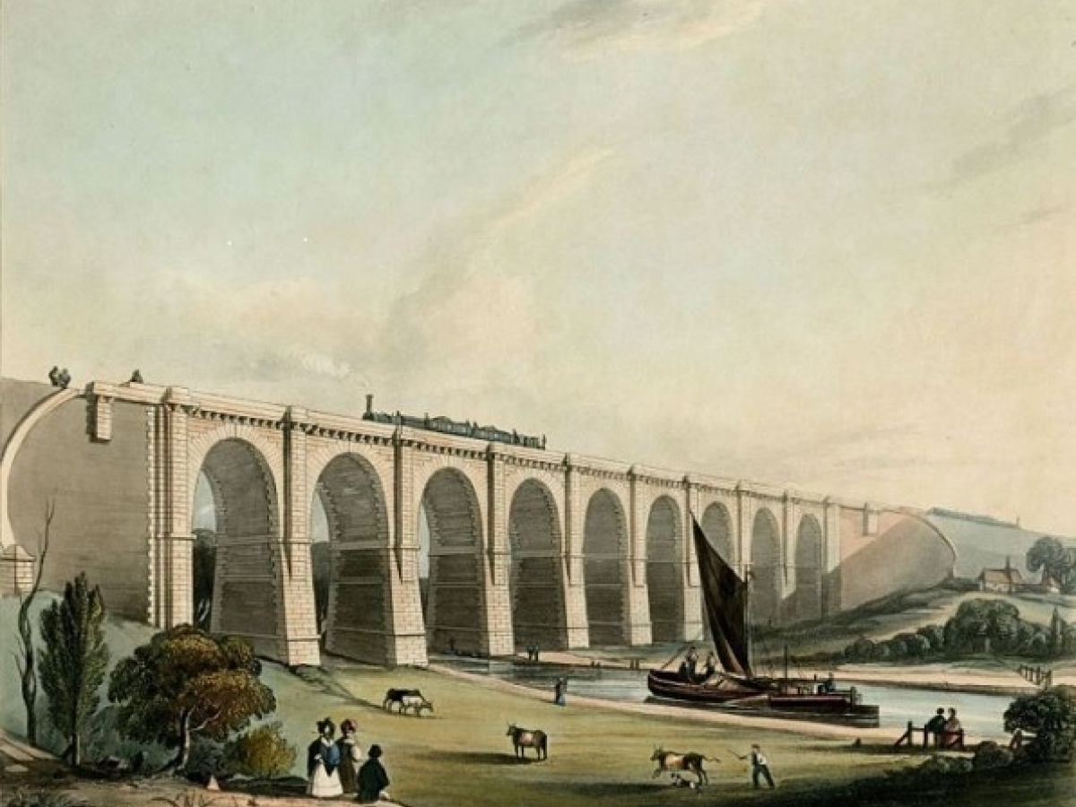 Viaduct across the Sankey Valley, 1831