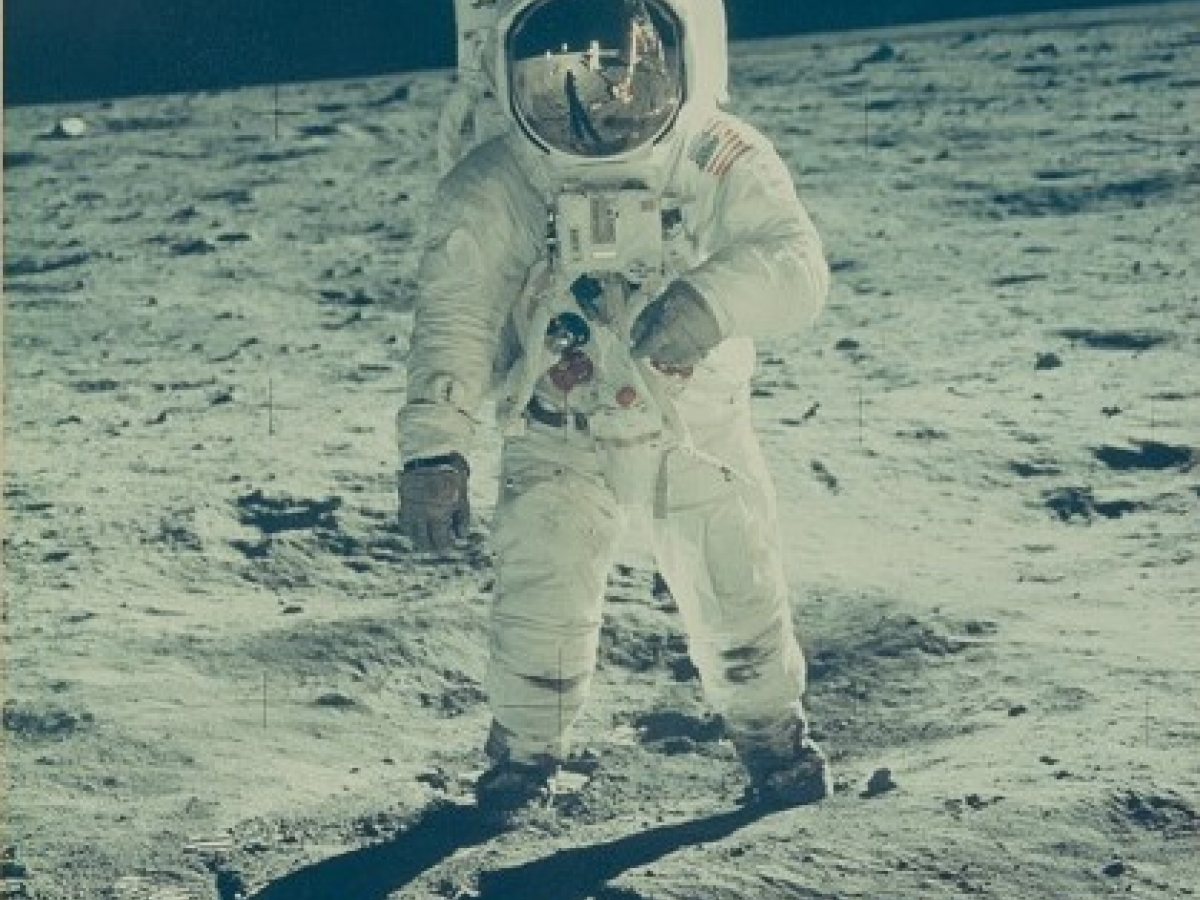 Neil Armstrong. Photograph of Buzz Aldrin on the Moon, 1969.