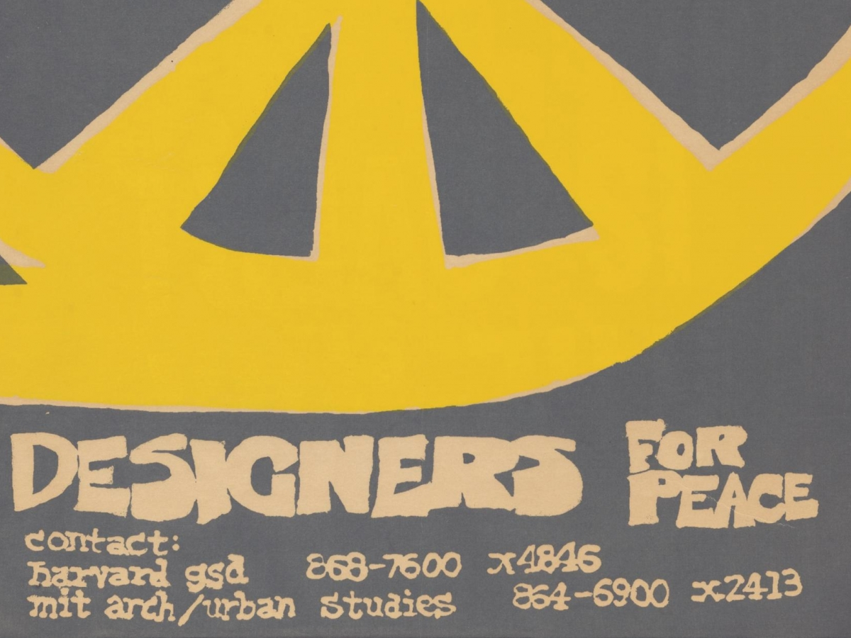 Designers for peace, 1969 student strike poster