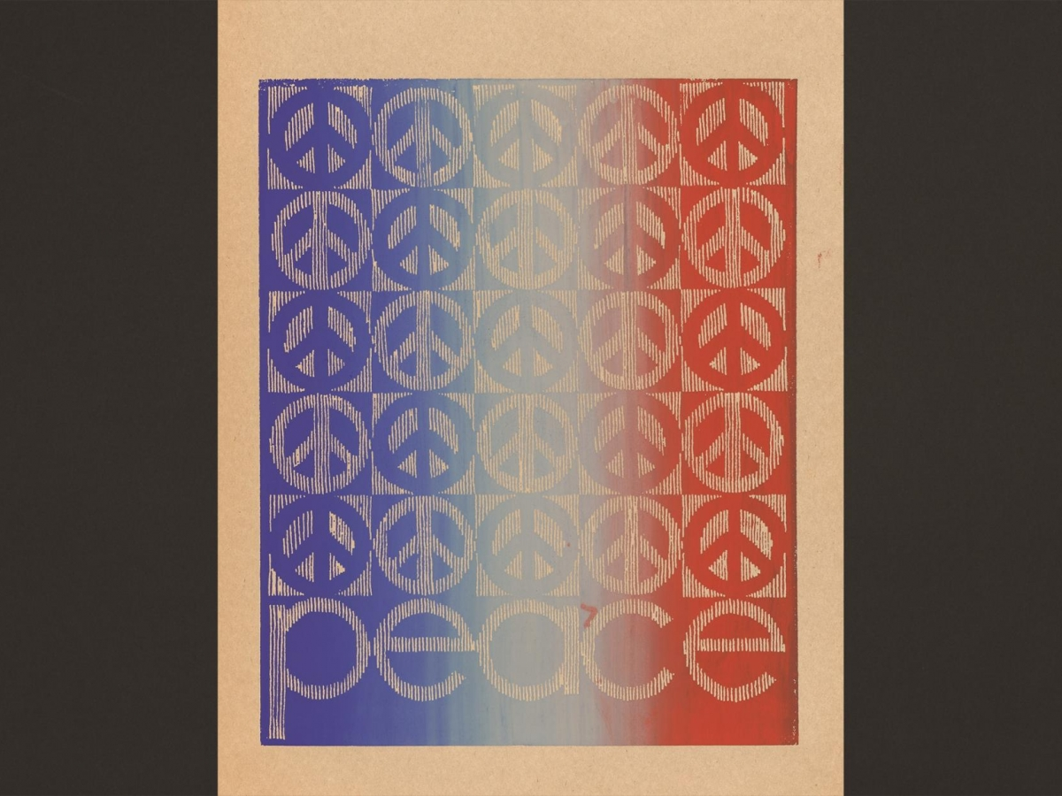 Ombre peace, 1969 student strike poster