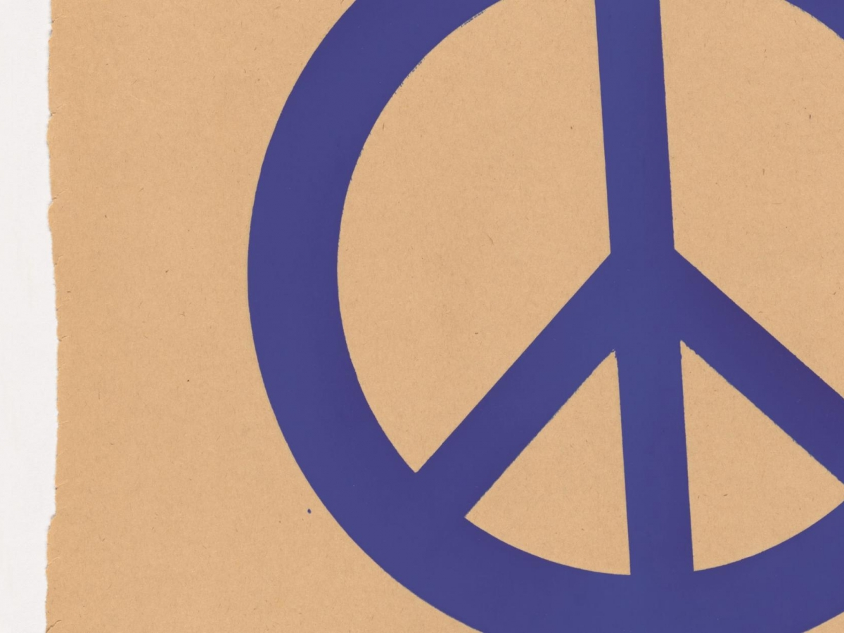 Blue peace, 1969 student strike poster