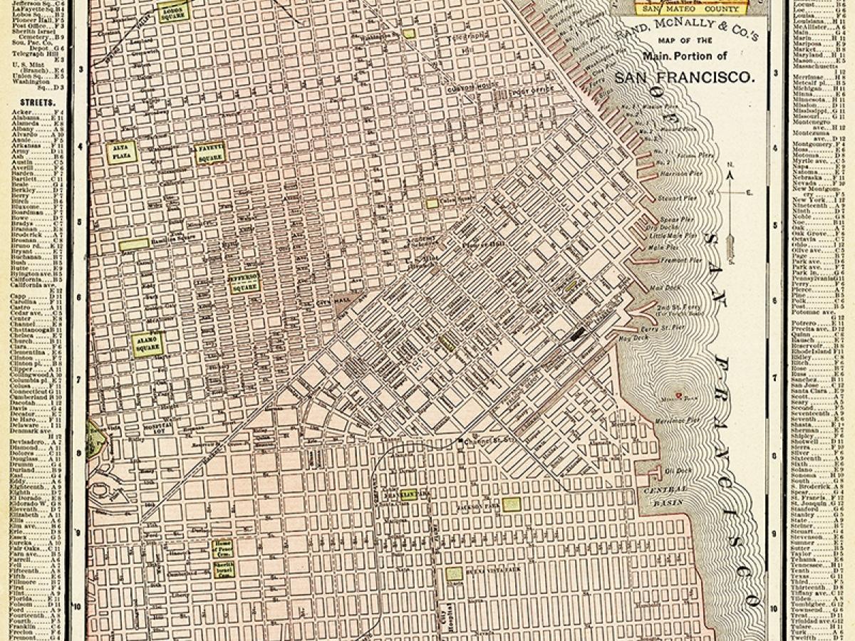Map of San Francisco. Rand, McNally & Co. 1895.