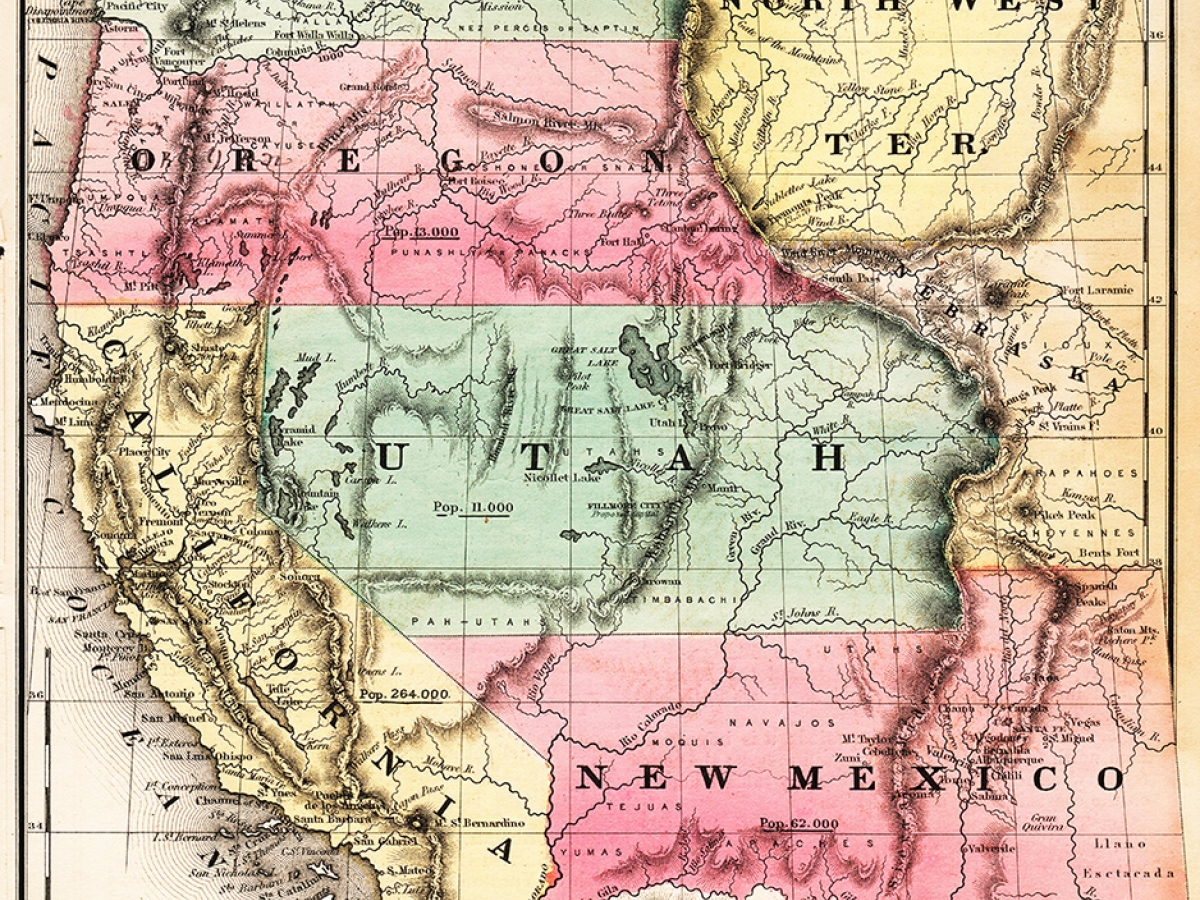 Map of Western United States, 1853