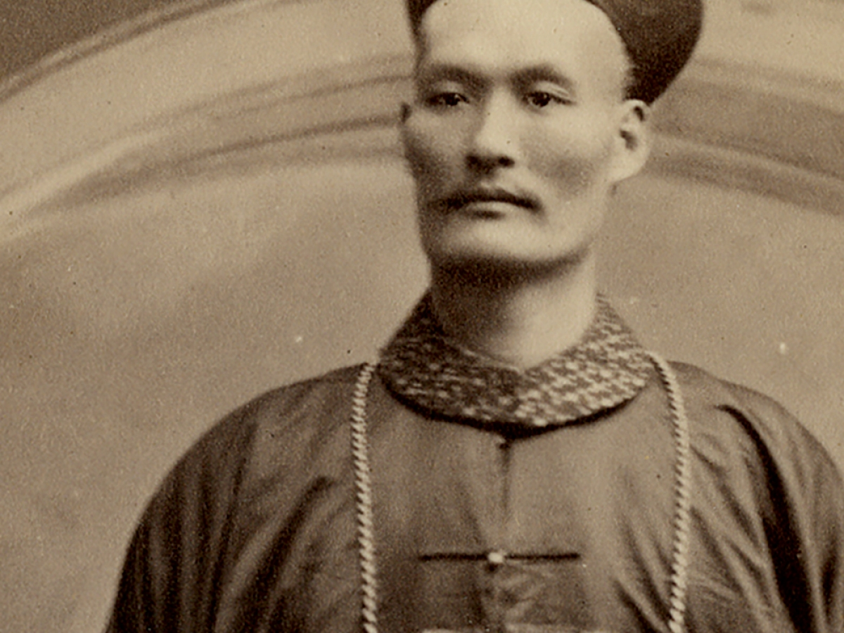 Chang-Yu-Sing the Chinese Giant, albumen print, ca. 1890