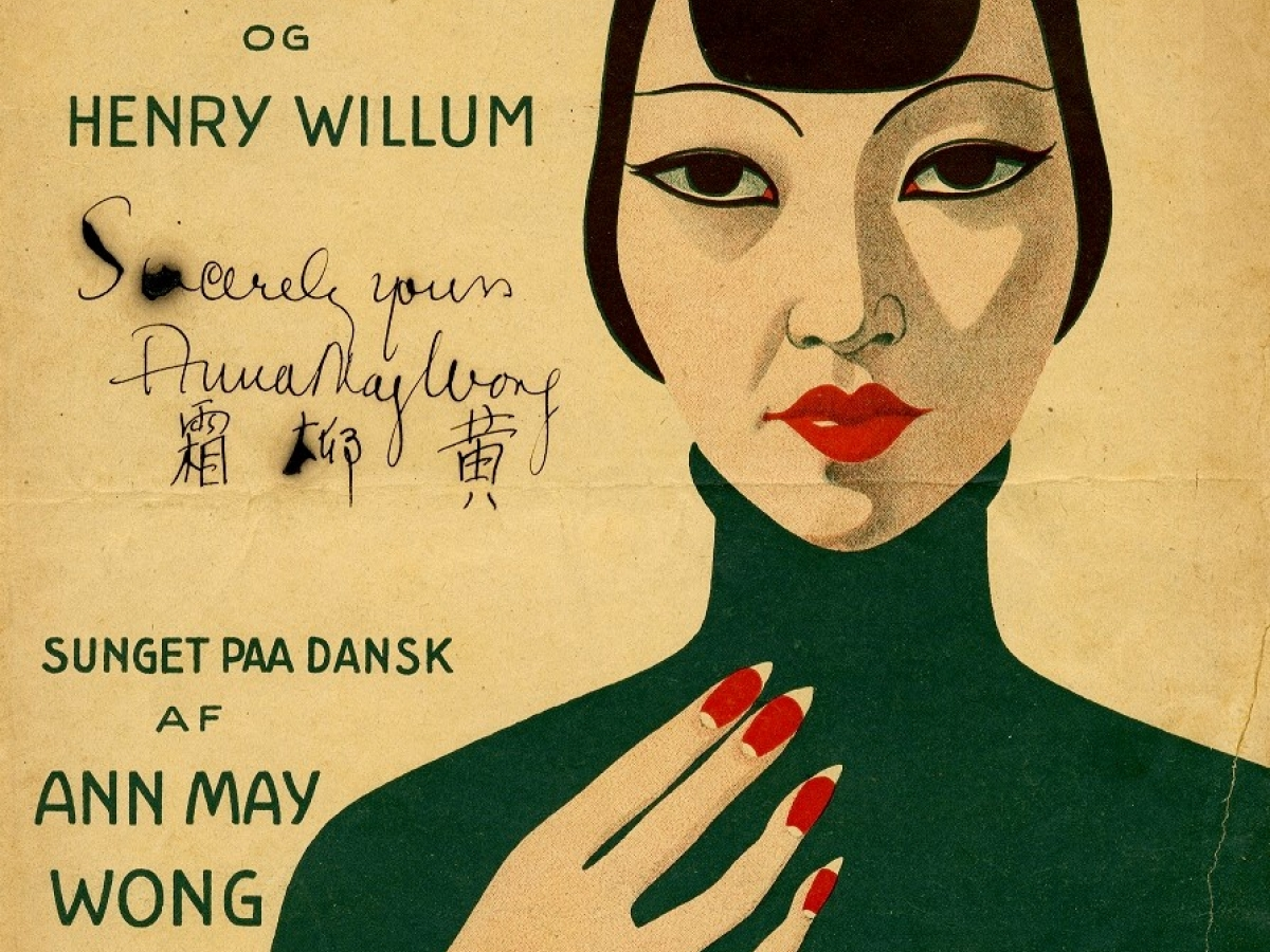 Danish sheet music featuring Anna May Wong, 1935.