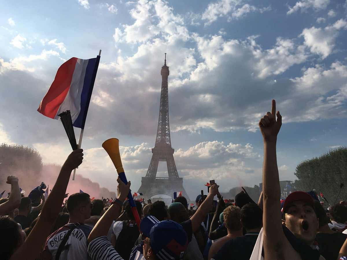 "Fraternitè and ""Vive la France!"": The World Cup, Paris, France, by Richard Yarrow, Special Prize, Minda de Gunzberg Center for European Studies;"