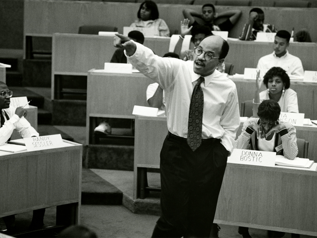 David A. Thomas, ca. 1995. HBS Archives Photograph Collection: Faculty & Staff. Baker Library, Harvard Business School.