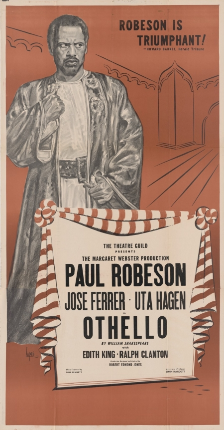 Poster for Robeson's Othello, 1944.