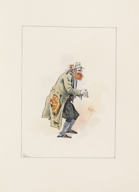 Drawings of characters from Charles Dickens's Oliver Twist