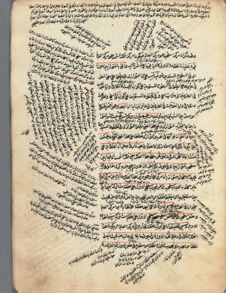 Qāḍīʹzādah, Mūsá ibn Muḥammad. Sharḥ al-Mulakhkhaṣ fī al-hayʻah: manuscript, 1854. A later copy of an 18th-century work on astronomy.