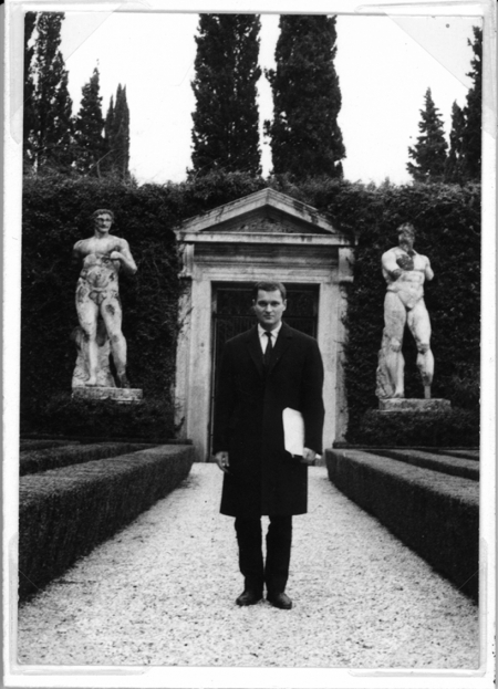 John Ashbery in Rome at the Villa Madama, 1963