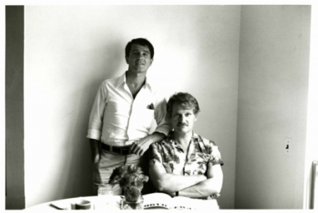 David Kermani and John Ashbery. Photograph by Clarice Rivers, Summer 1977. © Clarice Rivers.