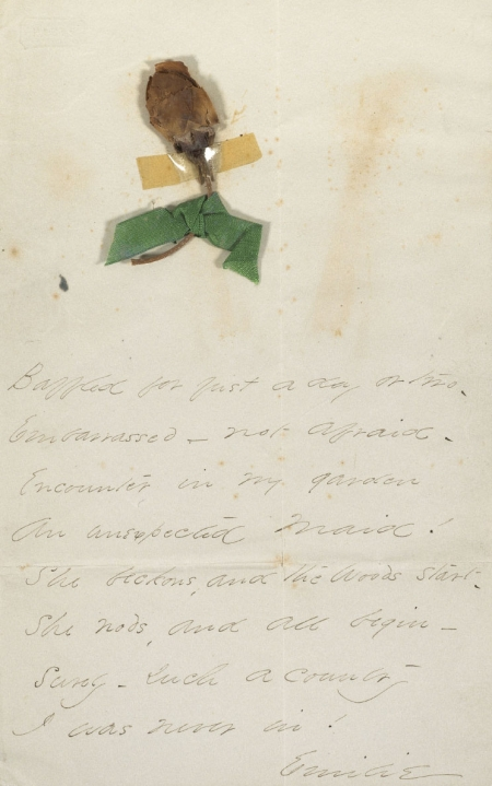 Baffled for just a day or two (first line) Autograph manuscript, signed (1860)