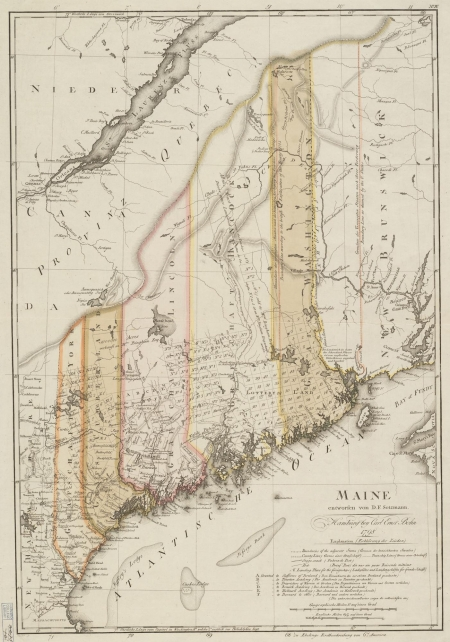 a 1798 map of maine from the harvard map collection