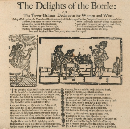 Shadwell, & Shadwell, Thomas. (1675). The Delights of the bottle, or, The town-gallants declaration for women and wine.