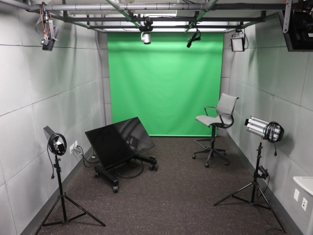 Cabot Media Studio A has a green screen available.