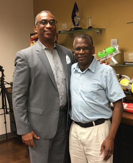 Prof. Rogers and Lonnie Johnson