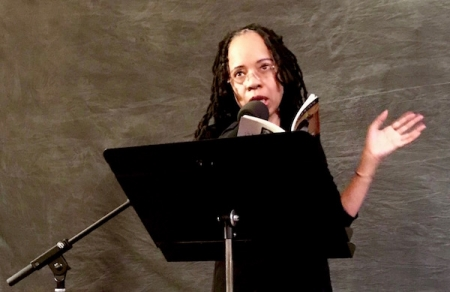 Tracie Morris at the Poetry Room