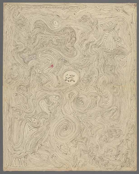 Charles Peirce's labyrinth drawing