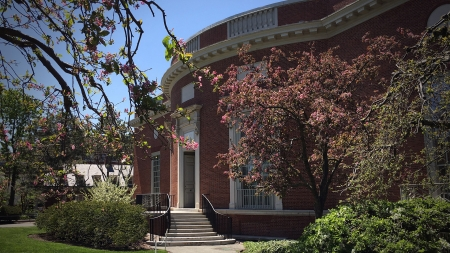 Exterior Of Houghton Library