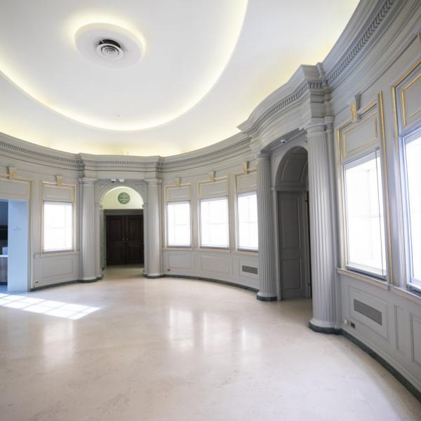 Empty library foyer