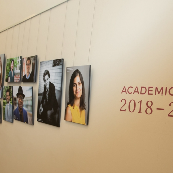 Faculty portrait gallery in Widener