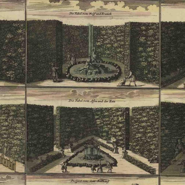 Two rows of three types of gardens