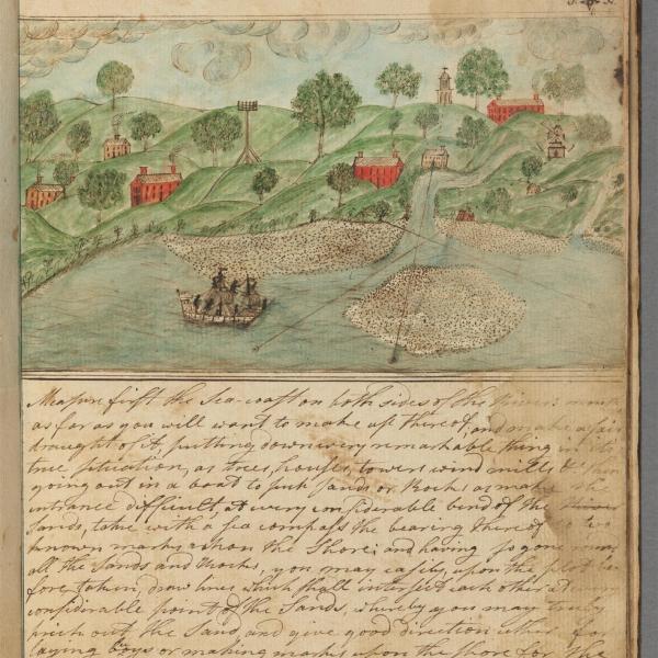 Illustration from mathematical manuscript of Samuel Griffin, 1783-1784 (seq 46). Harvard University Archives.