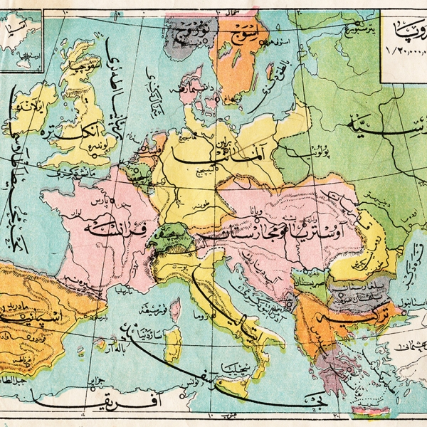 A map of Europe, circa mid 1900s.