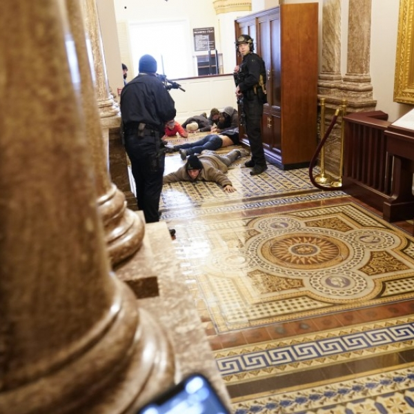Scene from the Capitol during the Jan. 6 attack