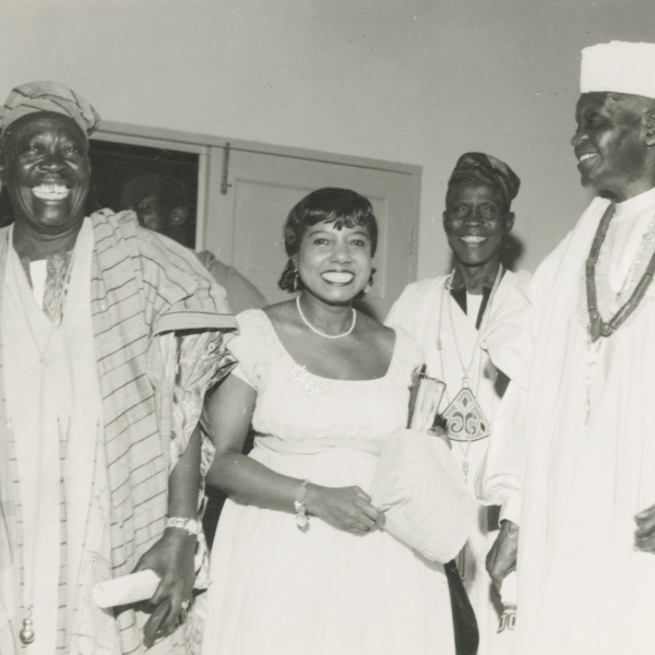 Marguerite Cartwright in Nigeria, ca.1960 Schlesinger Library