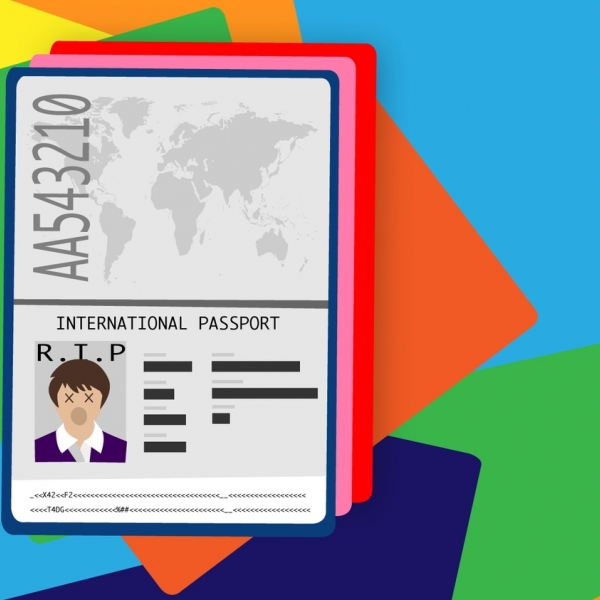 Graphic illustration of a passport