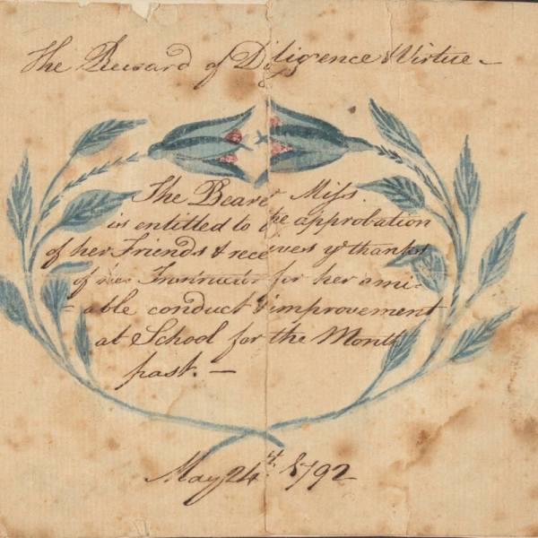 Photograph of a transcript from the 1700's