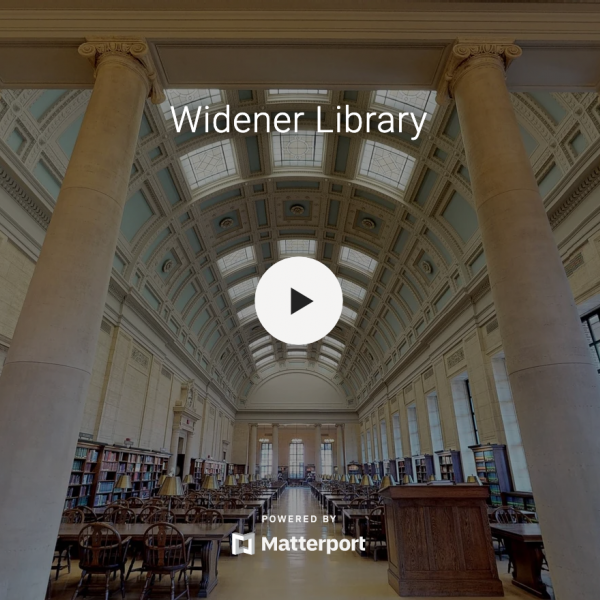 In the virtual tour, looking at Loker Reading Room